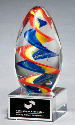 Colorful Egg-Shaped Award